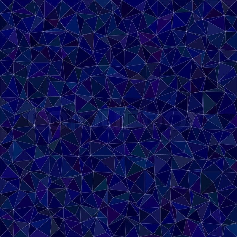 A Wallpaper Fall Dark Blue Irregular Triangle Mosaic Stock Vector