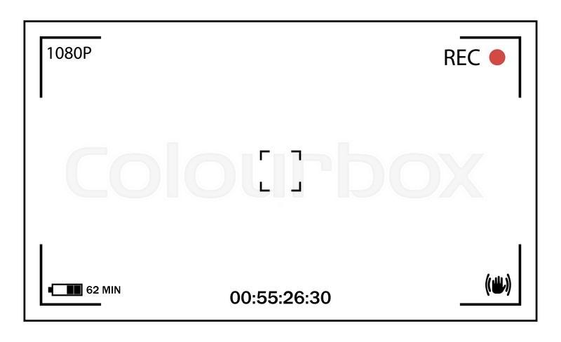 White user interface of camera viewfinder. Focusing screen