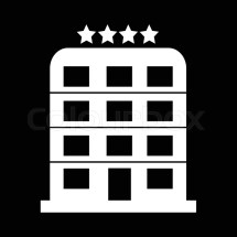 4 Star Hotel Icon Illustration Design Stock Vector