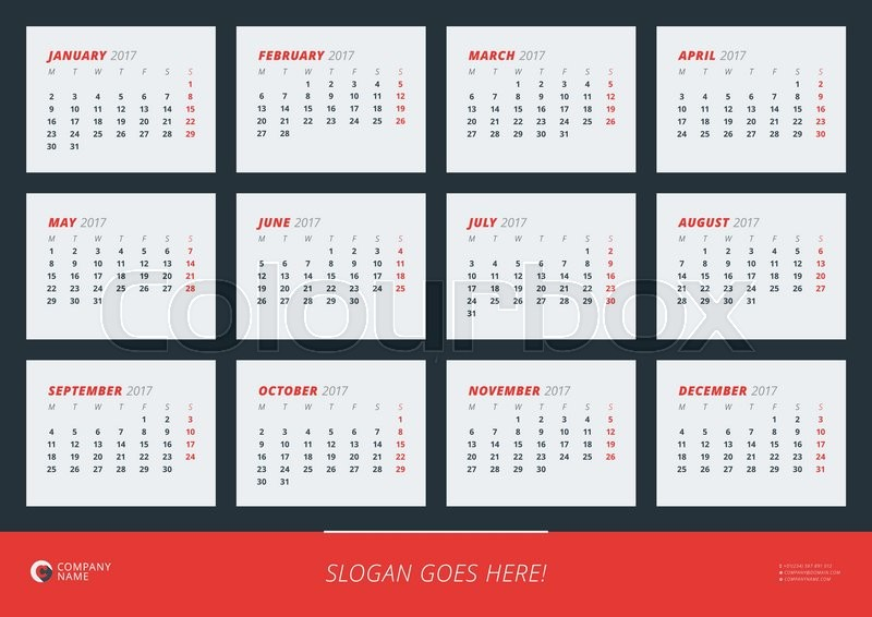 pic 2017 Poster Calendar Template wall calendar poster for 2017 year