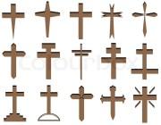 christian cross design stock