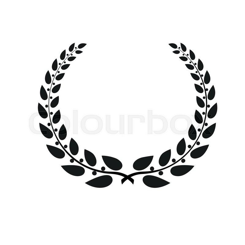 Laurel wreath, conceptual logo. Detailed illustration on