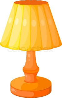 Yellow Cartoon electric lamp on a white background ...