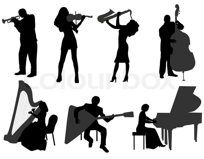 Black Woman Play Harp
