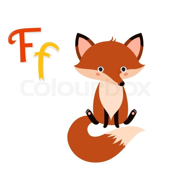 Letter F. Fox Animal