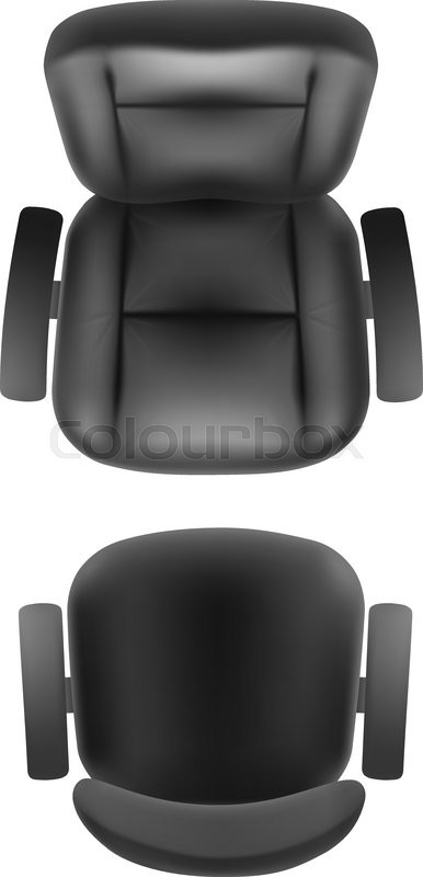 Office chair and boss armchair top view vector realistic