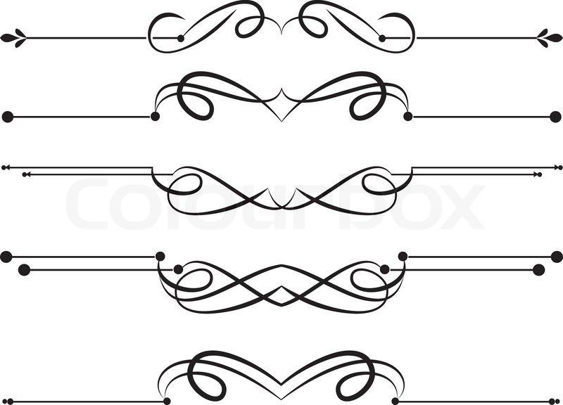 Design ornamental element in vintage style vectorized