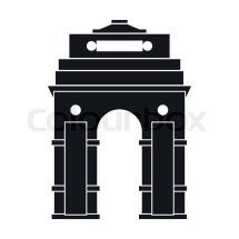 India Gate Delhi Icon In Simple Style Isolated