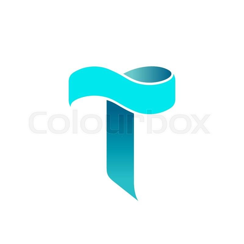 vector letter t logo