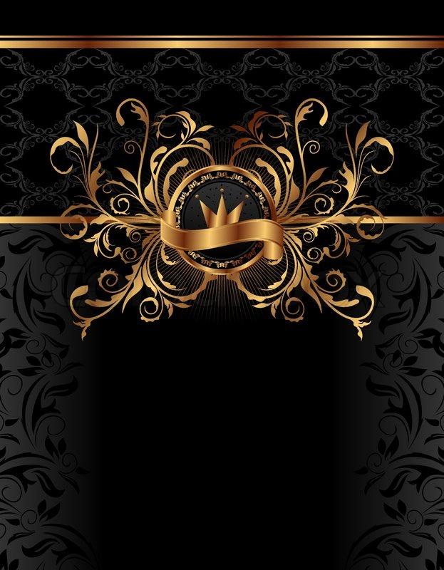 Illustration Royal Background With Golden Frame Vector