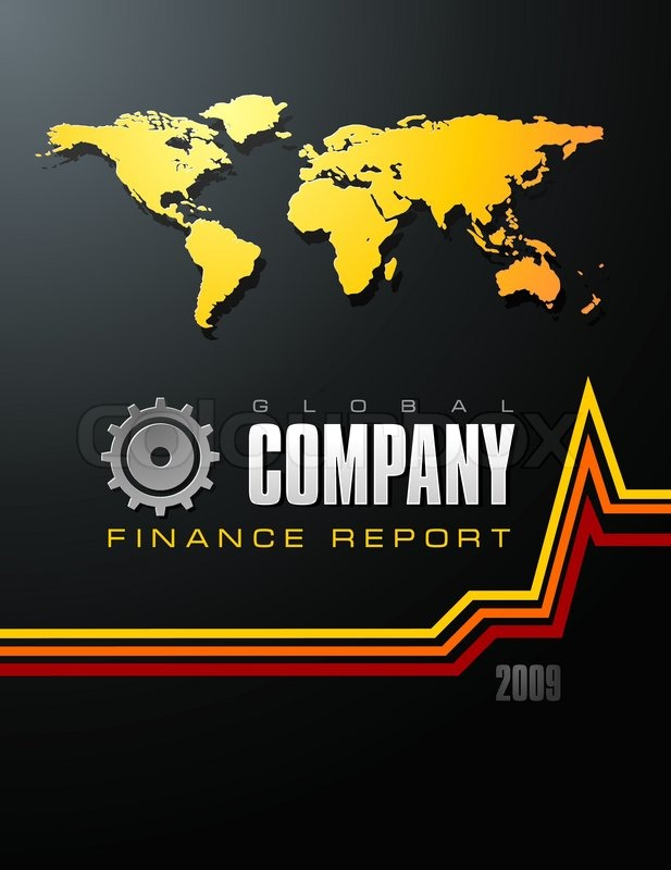 Global Company Business Finance Report Cover template