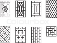 Set of Chinese pattern window frame, vector | Stock Vector ...