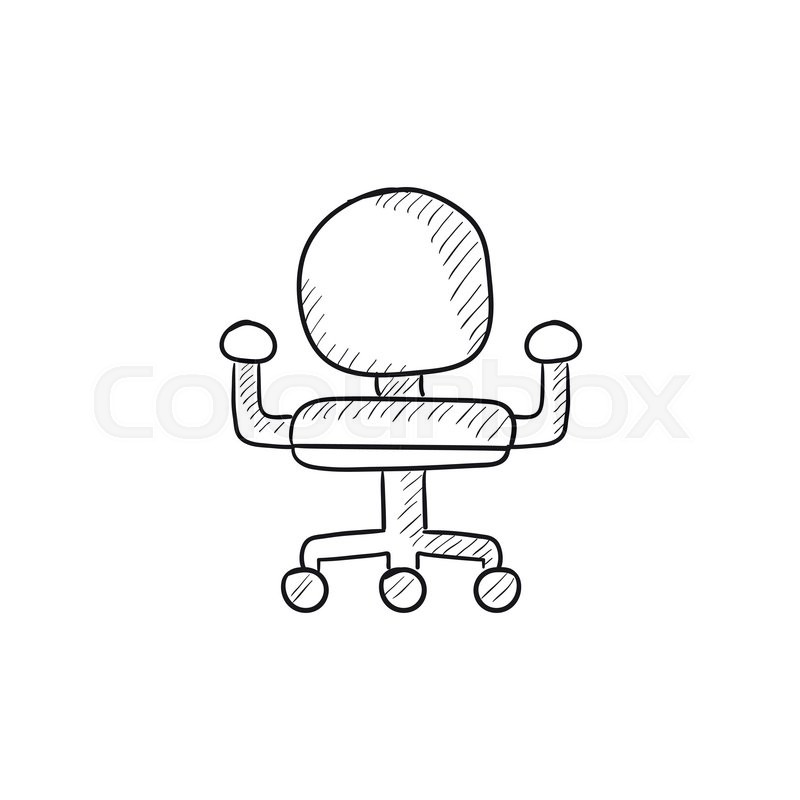 office chair vector lawn chairs target sketch icon stock colourbox