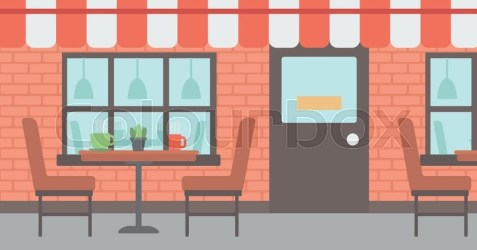 Background of street cafe Cafe on the Stock vector Colourbox