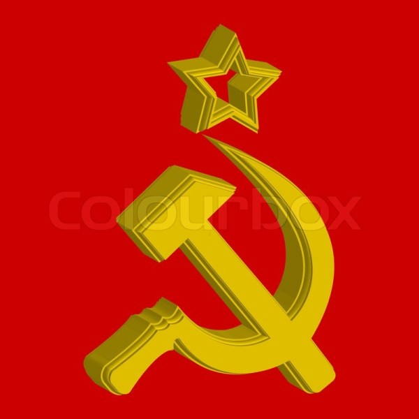 Russian symbol flag concept abstract art illustration