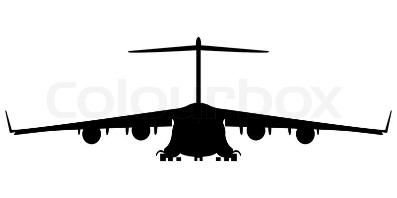 Hercules military airplane silhouette, abstract art