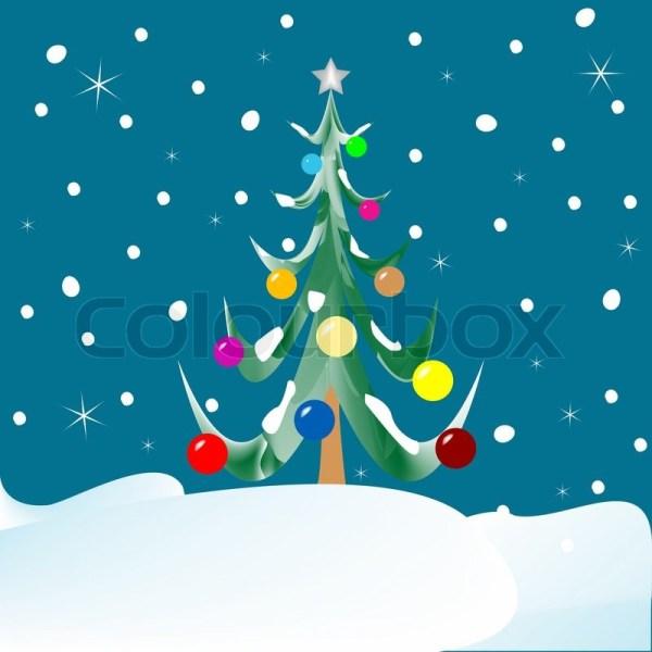 Abstract Christmas Tree Drawing
