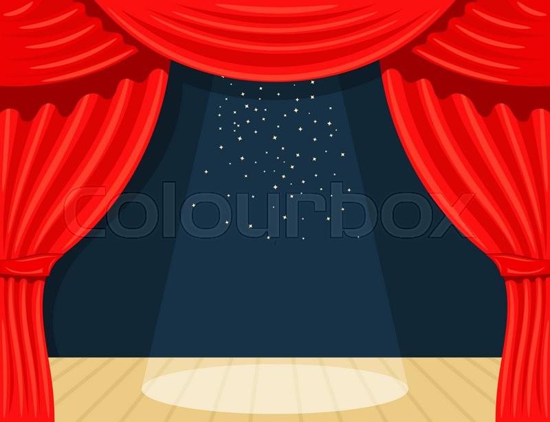cartoon theater theater curtain