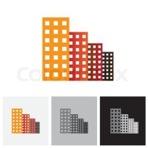 Colorful Commercial Buildings . Stock Vector Colourbox