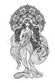 beautiful woman with mandala