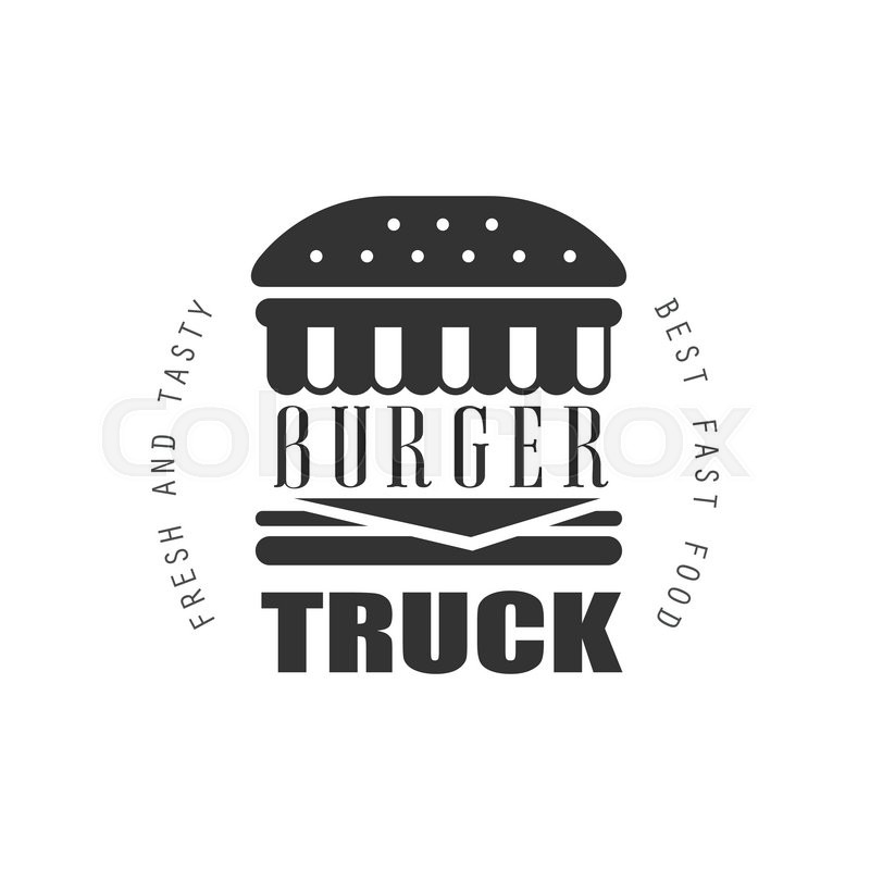 Fresh And Tasty Burger Food Truck Logo Graphic Design