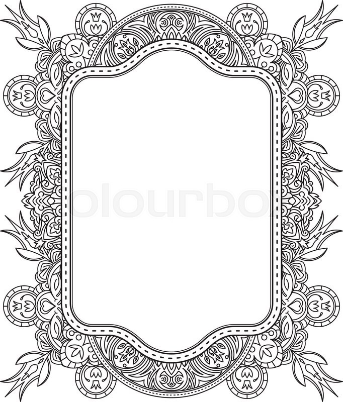 Ethnic template for design wedding invitations and