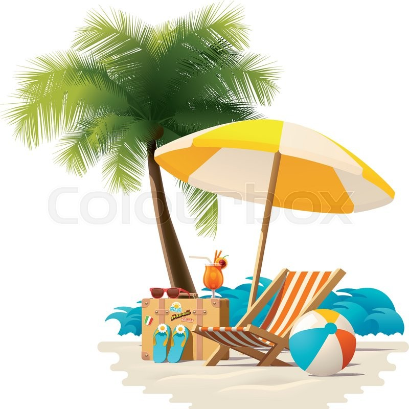 modern ball lounge chair fingal swivel detailed vector icon representing deck chair, travel suitcase, sun umbrella and cocktail near ...