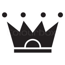 Flat Design Crown Pictogram Icon Vector Illustration