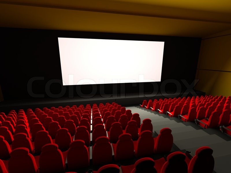 Movie Theater Seats 3d rendered image  Stock Photo