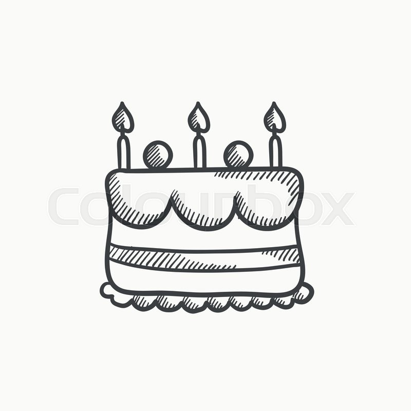 Birthday Cake With Candles Vector Stock Vector Colourbox