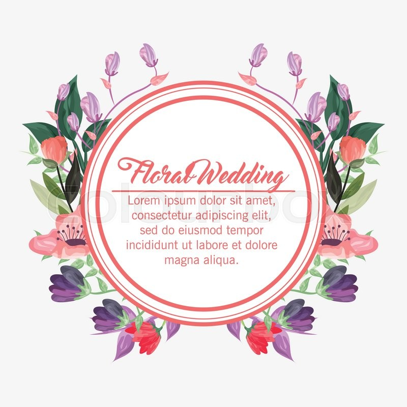 floral wedding represented by