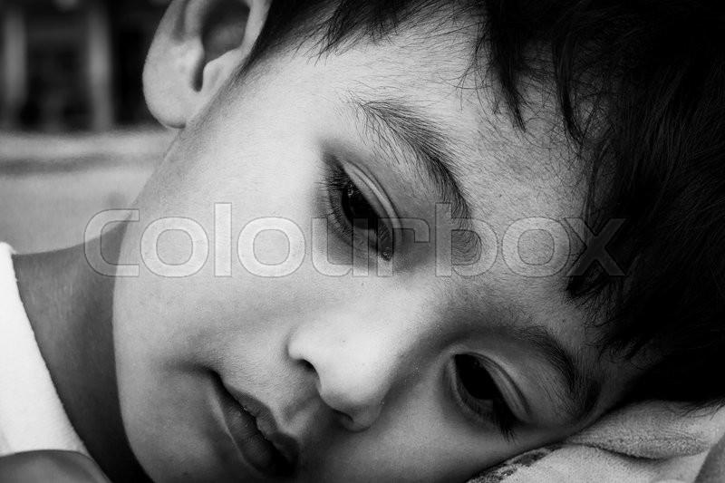 face cute little boy