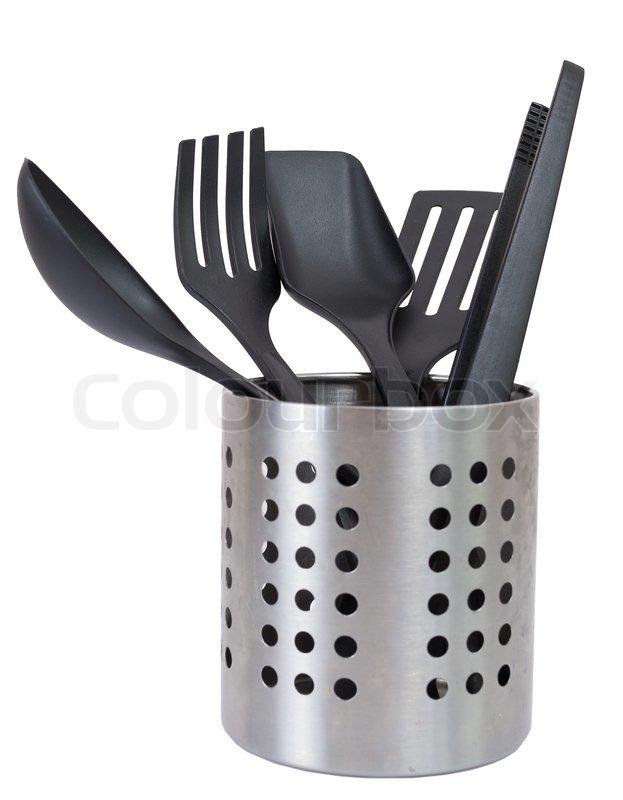 kitchen tool holder c utensils in a utensil stock photo colourbox