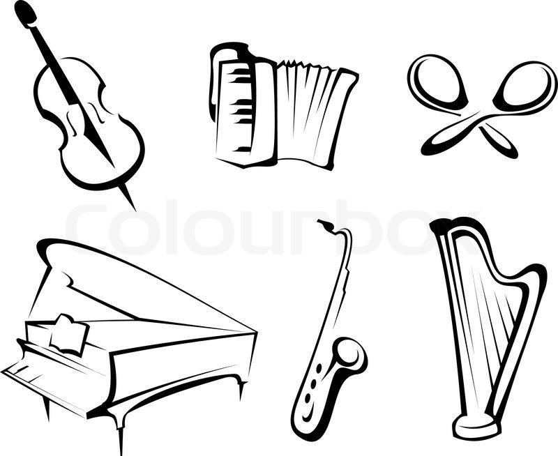 Musikinstrumente set für Design und dekorieren