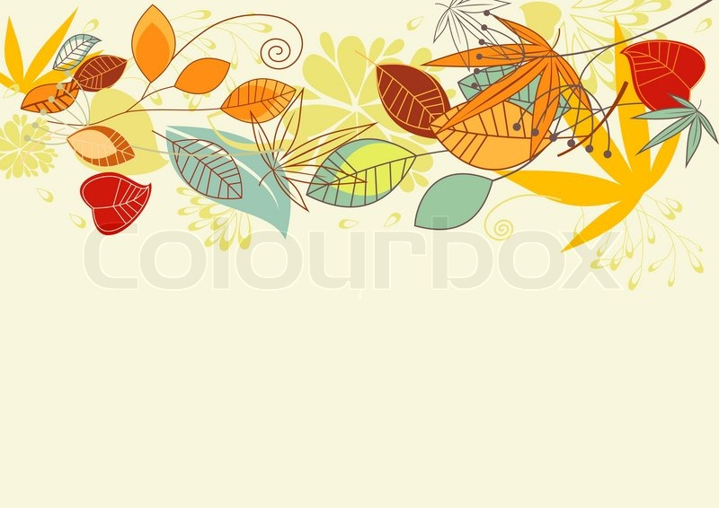 Maple Leaf Wallpaper For Fall Season Autumn Colorful Leaves Background For Thanksgiving Design