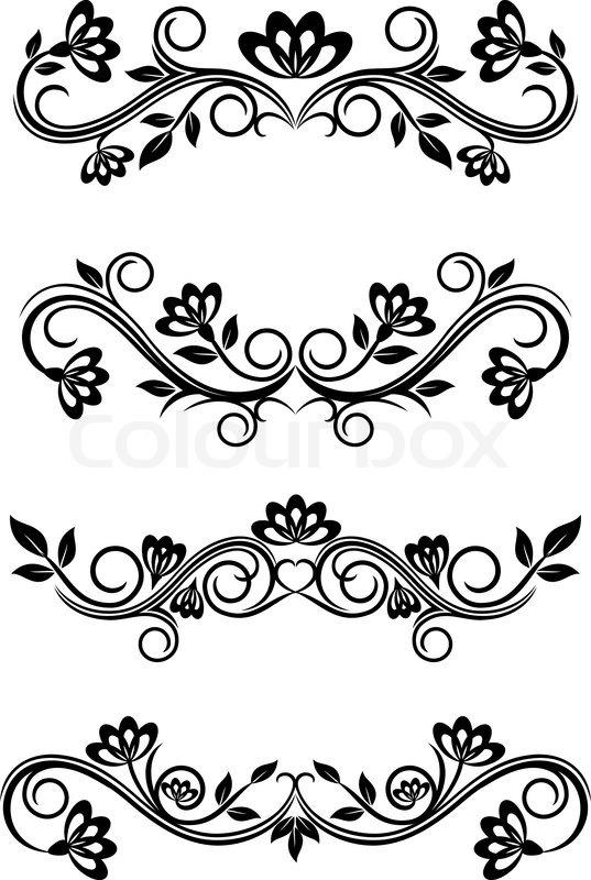 Antique vintage frames isolated on white for design