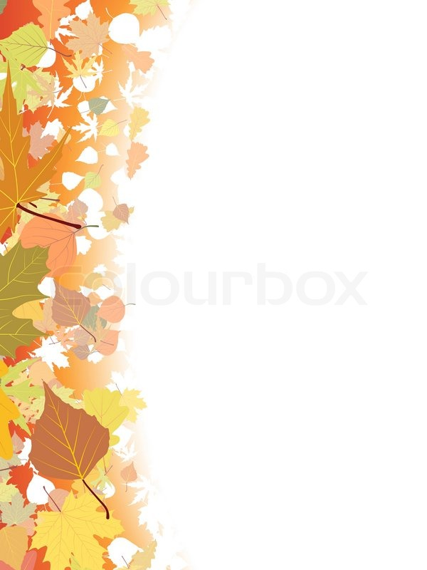 Maple Leaf Wallpaper For Fall Season Autumn Background Template Eps 8 Stock Vector