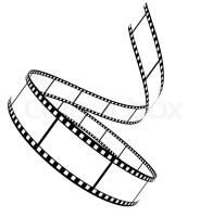 Segment Blankfilm aufgerollt auf weißem Hintergrund ...