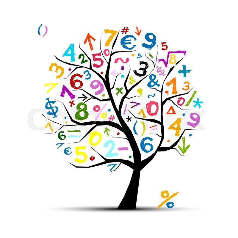 art tree with math