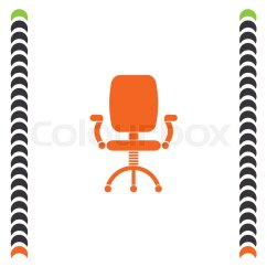 Office Chair Vector Recliner Throw Covers Icon Working Stock Colourbox