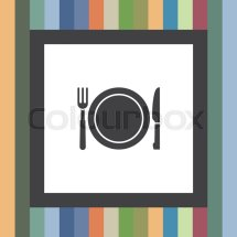 Fork And Knife Menu Vector Icon. Hotel . Stock