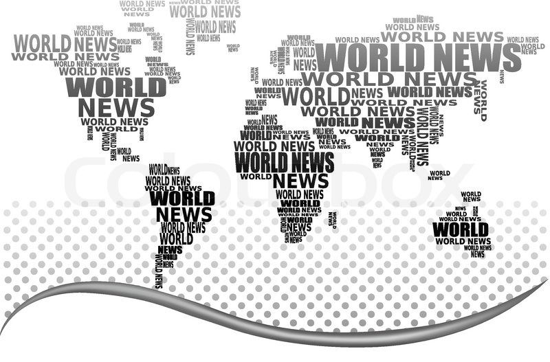 World news concept. Abstract world map made from World