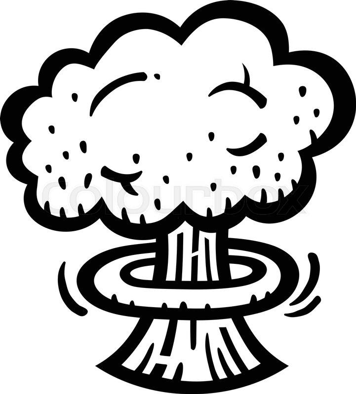 Mushroom Cloud Atomic Nuclear Bomb Explosion Fallout