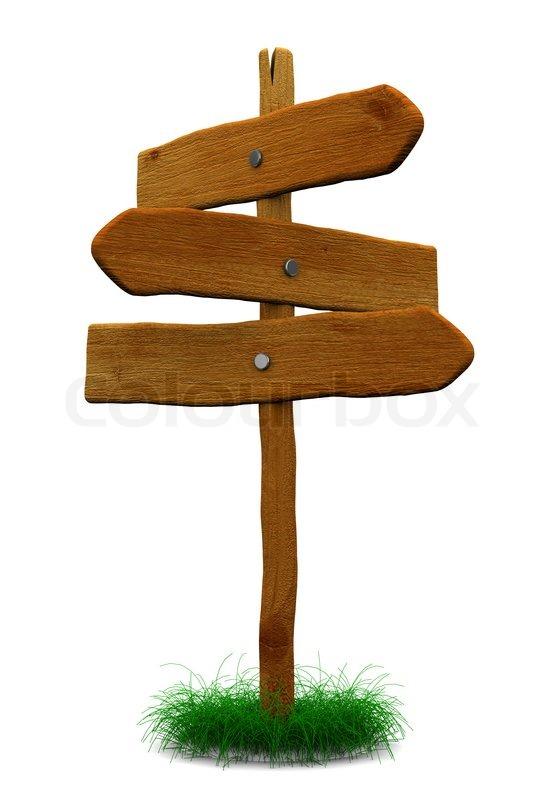 3d illustration of wooden