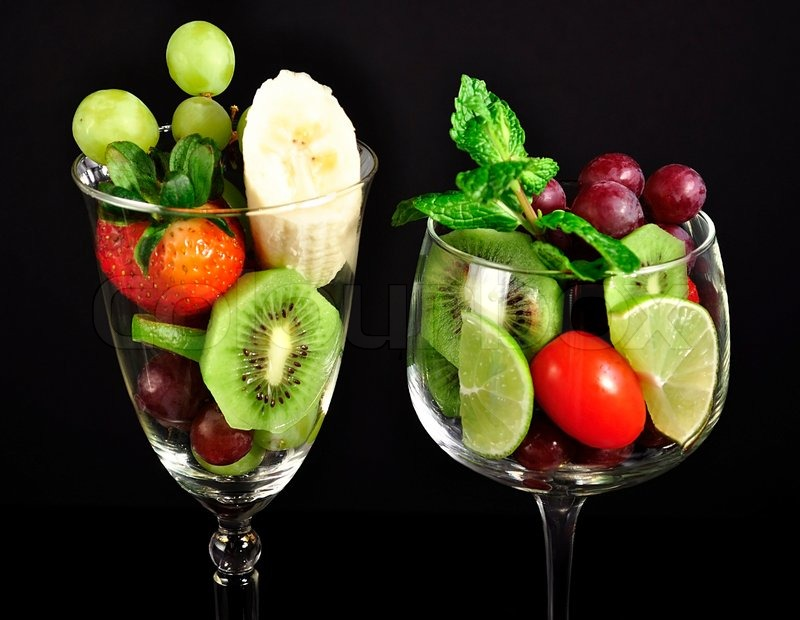Assortment of fresh fruits in a   Stock Photo  Colourbox