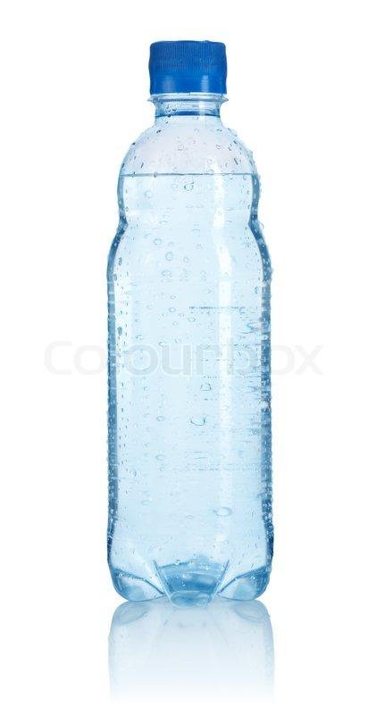 KunststoffFlasche Wasser auf einem   Stockfoto