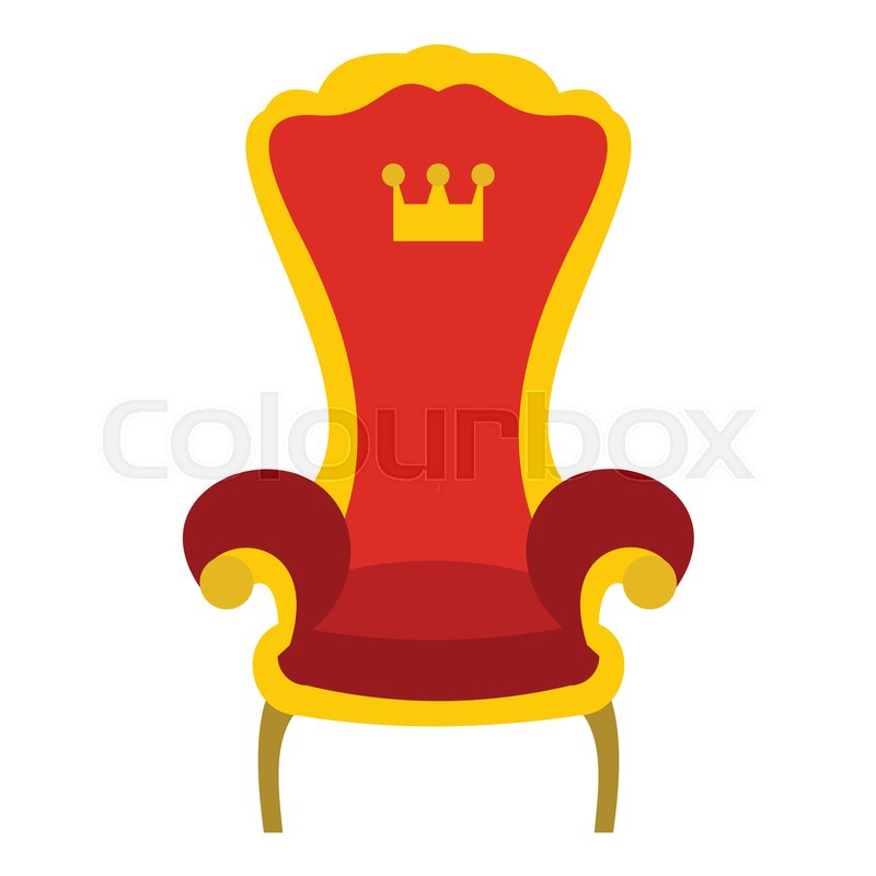 modern sofa plans free gray leather sectional red royal throne icon. flat ... | stock vector colourbox