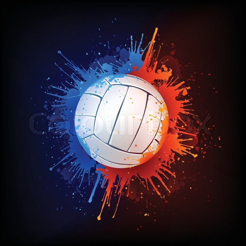 Nike Quotes Wallpaper Hd Basketball Volleyball Ball In Paint Isolated On Black Background