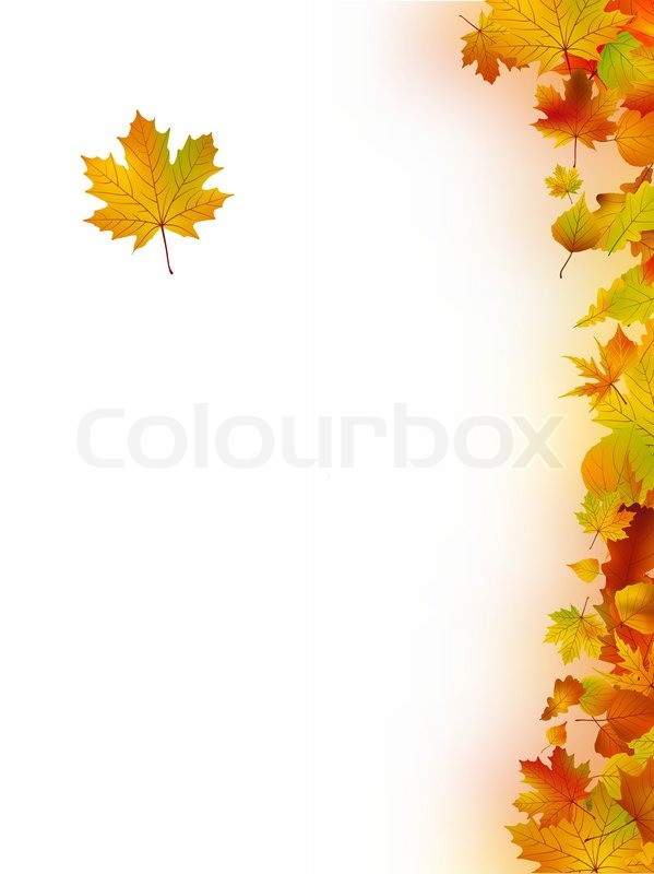 Fall Leaves Wallpaper Border Decorative Frame From Bright Autumn Stock Vector