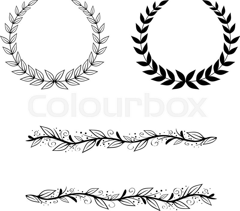 Natural Leaf and Border Frame and Border Collection